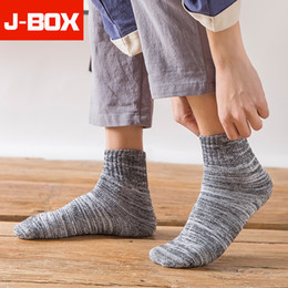 terry cotton NZ - 5 Pairs Lot 2019 New Fashion Colorful Terry Men Socks Autunm Winter High Quality Thicken Warm Cotton Long Snow Socks For Male