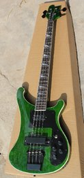 custom basses china Australia - 2020 Custom RIC 4 Strings Trans Green 4003 Electric Bass Guitar Black Hardware Triangle MOP Fingerboard Inlay Awesome China Guitars