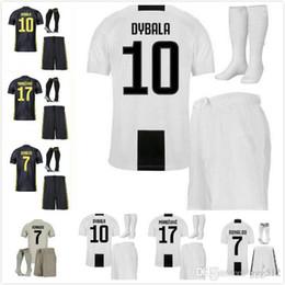 Football Uniforms Australia - 18 19 Juventus Soccer Jersey kit 2018 2019 EA juve RONALDO HIGUAIN DYBALA D. Costa MANDZUKIC BUFFON third Football shirt uniforms