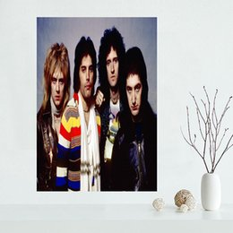 $enCountryForm.capitalKeyWord Australia - Custom Queen Band Poster Wall For Living Room Art Poster Decoration Silk Fabric Bright Smooth No Frame Morden Print Wall