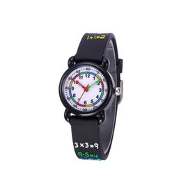 Acrylic Water Glasses Australia - JNEW Children's Watch Numbers-Style Watches Fashion Cute Acrylic Glass Stainless Steel Waterproof Wrist Watches Clock Black NO20094