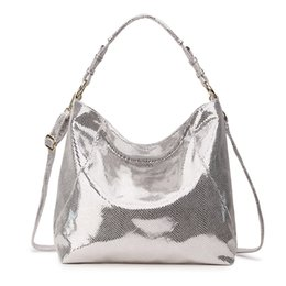 $enCountryForm.capitalKeyWord NZ - Luxury Handbags Women Bags Designer Female Genuine Leather Bag Big Hobo Women Shoulder Bags Ladies Silver Bags For Women 2018 Y19061705