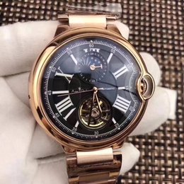 mechanical moonphase 2019 - Luxury Brand New Automatic Mechanical Men Watch Leather Silver Rose Gold Transparent Moonphase Watches Black Blue Tourbi
