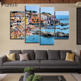 $enCountryForm.capitalKeyWord Australia - 2019Unframed Fashion 4Pcs set House Modern Wall Art HD Picture Canvas Print Canvas Painting For Living Room Picture