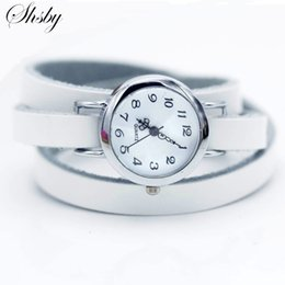 Discount vintage brand watch - Shsby brand New fashion hot-selling Long winding Genuine leather female silver watch ROMA vintage watch women dress watc