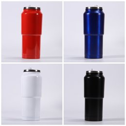 Woman milking cups online shopping - Men Women Vacuum Cups With Straw Stainless Steel Milk Tumbler Outdoor Camping Water Bottle Colors ml hq E1