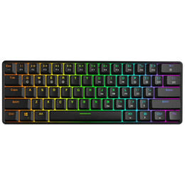 Switch Ip67 UK - Mechanical Keyboard, 61 Keys Optical Switch Multi-color RGB LED Backlit Wired Gaming Keyboard, IP67 Waterproof Wrist Rest, Erg