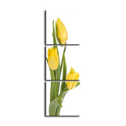 pictures tulip paintings Australia - 3 pieces high-definition print tulip canvas oil painting poster and wall art living room picture PF3-027