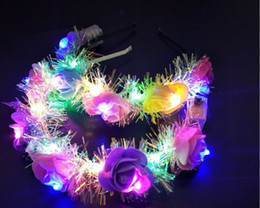 $enCountryForm.capitalKeyWord Australia - 2019NEW Glow wreath flower headband adults light up LED headbands Christmas Halloween party luminous flashing hairband