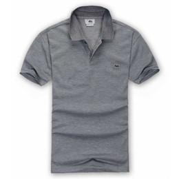 2db9ad4bc Verano de lujo francés camiseta diseñador de la camisa Polo polo alto  bordado cocodrilo camisa Polo ropa de marca de ropa para hombres