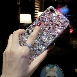 $enCountryForm.capitalKeyWord Australia - Luxury Fashion Bling Crystal Diamond Case Cover For Iphone X 8 7 6 6S Plus 5 5S 5C 4 4S TPU Soft Silicone Back Cover Girl Case
