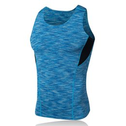 men sleeveless tees UK - Gyms Clothing Fitness Tank Tops Men Sleeveless Tees Quick Dry Compression Tees Workout Singlets Crossfit Top Plus Size XXXL #136459