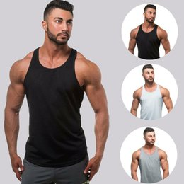 sleeveless singlet cotton men Australia - 2019 Workout Men Muscle Sleeveless Tank Top Man Bodybuilding Fitness Vests Singlet New Male Solid Loose Casual Tanks