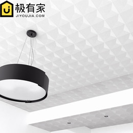3d diamond paper online shopping - classical d white diamond Ceiling wallpaper hotel living room bedroom European ceiling roof ceiling PVC eco friendly mold proof wallpaper