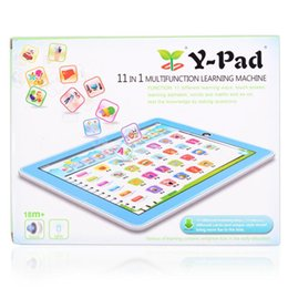 Tablet Stand Kids Australia - Kids Children English Learning Pad Toy Educational Computer Tablet Learning Machine Tools Kids Laptop Pad Toys Educational For Baby S19JS237