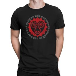 Neck Gear Australia - Mens LOVE HEART GEARS Cycling T-Shirt Skull Chain Mountain Road Bike Funny Gift Tshirt O-Neck Summer Personality Fashion Men T-Shirts