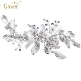 $enCountryForm.capitalKeyWord UK - Wedding Silver Leaf Hair Clip Bridal Barrette Rhinestone Boho Women Party Headpieces Photo Prop Dress Hairclips