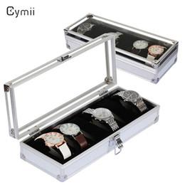 $enCountryForm.capitalKeyWord Australia - Cymii 6 Grid Insert Slots Watch Box Case Jewelry Watches Box Organizer for Rings Bracelet Display Holder Case