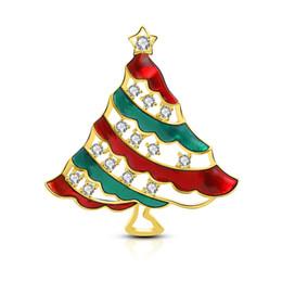 $enCountryForm.capitalKeyWord NZ - 2019 Christma Exquisite Trend Christmas Tree Rhinestone Color Copper Zircon Brooch Pin Jewelry Christmas Best Christmas Gift