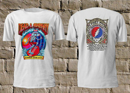 260ec57a DEAD & COMPANY - Summer Tour 2019 Skull Surfing White TShirt Rock Grateful  Dead