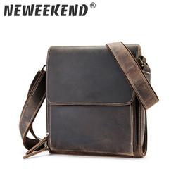 $enCountryForm.capitalKeyWord Australia - Crazy Horse Genuine Leather Men's Bags Crossbody Bags Zipper Vintage Messenger Bag Men's Shoulder Bag Genuine Leather 3027 Y190701