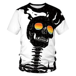 mens skeleton t shirt print Canada - Halloween Costume 3d Skeleton Print T Shirt Women Multi Skulls Printed Tshirt Mens Carnival Party Terror Totem Tops Unisex Clothes S-3XL