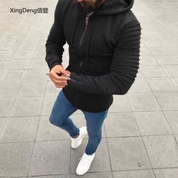 $enCountryForm.capitalKeyWord Australia - XingDeng pleated long-sleeved hooded men's jacket cardigan male sweater male Explosive zipper hooded top coat plus 5XL