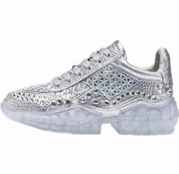 Venta al por mayor de Zapatos de diamante Disigers diamante zapatillas de deporte de lujo de las mujeres de los zapatos ocasionales 2019 zapatos de lujo de la manera del cuero Top Sneaker