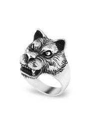 Wolf men rings online shopping - Chava Wolf Man Silver Ring Cs61