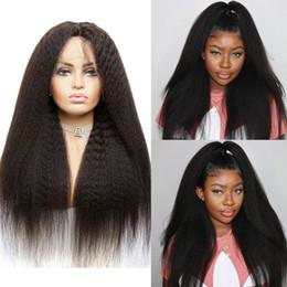 $enCountryForm.capitalKeyWord Australia - 13x4 Remy Brazilian Kinky Straight Wig Natural Black Lace Front Real Human Hair Wigs for Black Women Machine Wig Baby Hair