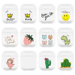 pc protectors NZ - designer airpods case protector for airpods 1 2 cartoon clear various pattern PC case protector retail package and free shipping