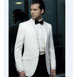 Size 58 Suit for men online shopping - Hot Sale Notch Lapel Wedding Tuxedos Slim Fit Suits For Men Groomsmen Suit Two Pieces Cheap Prom Formal Suits Jacket Pants Tie