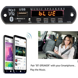 remote control car accessories Canada - Bluetooth MP3 WMA Decoder Board with Remote Control Audio Module Support AUX TF USB FM Radio For Car Accessory