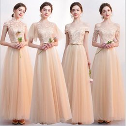 02d0a37f844 Pure sexy long lace Champagne Korean version of bridesmaid dress party  girlfriends group dress birthday party evening dress
