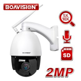 Onvif Camera Wifi Ptz Australia - HD 1080P Wireless PTZ Speed Dome IP Camera WIFI 5X 10X Zoom Outdoor CCTV Security Video Surveillance Camera Audio ONVIF IR 60M