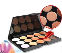 antibacterial cream NZ - DHL Professional 15 Color Camouflage Concealer Make Up Cream Palette