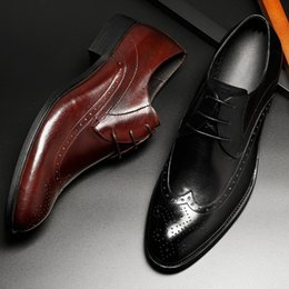 $enCountryForm.capitalKeyWord NZ - Cool2019 Man Genuine Leather England Sharp Carving Male Shoe Chalaza Business Affairs Casual Shoes