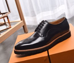 Brand Men Suits Wedding Australia - Brand Men cow leather dress wedding shoe Fashion formal Suit Business Office Shoe Buckle Horsebit Loafers Height Increased Oxfords,38-45