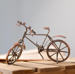 Metal Craft Models Australia - Bicycle model metal crafts ornaments Creative home living room counter decorations ornaments factory outlet Creative fashion home