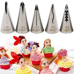 cake decor nozzles Australia - Stainless Steel Icing Pipe Cake Decor Sugarcraft DIY Tool Bakeware Nozzle Tip