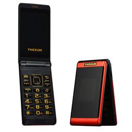 $enCountryForm.capitalKeyWord Australia - Luxury Flip 3.0 inch Double Screen Dual SIM Card MP3 FM Gold cellphone Big keyboard letters loudly speaker Old Man mobile cell phone