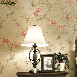 Floral Printing Paper Australia - beibehang American rural garden non-woven wallpaper small floral European warm retro nostalgic bedroom living room wall paper
