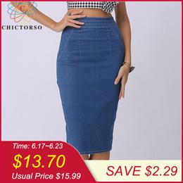 d4e04cceb814 Chictorso Sexy High Waist Denim Skirts Blue Bodycon Pencil Skirt Women Plus  Size Summer Skirt Long Denim Skirt Women Saia Midi J190626