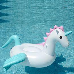 $enCountryForm.capitalKeyWord NZ - Inflatable floating drainage on the toy new PVC inflatable super large unicorn inflatable rainbow horse floating row unicorn