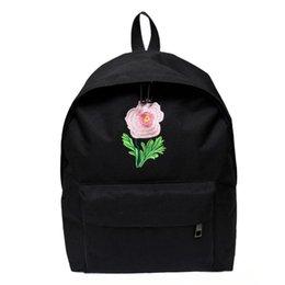 f14b74213254 Roses backpacks online shopping - ISHOWTIENDA Women Rose Vintage Canvas  Backpack Satchel Rucksack Travel School Bag