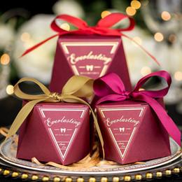 $enCountryForm.capitalKeyWord Australia - 100pcs lot Diamond Wedding Favors Candy Box Chocolate Box Package Baby Shower Wedding Paper Gift Box Birthday Party Decorations Supplies