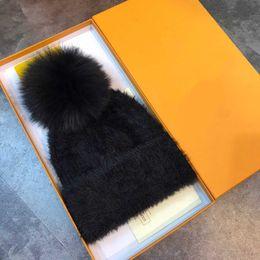 Cashmere Beanies Australia - High Quality European Women's Plush Kintted Hat Fashinable Felt Hat Crystal Autumn Winter Cap Warm Beanie Women Girl Cashmere Hats Shipping