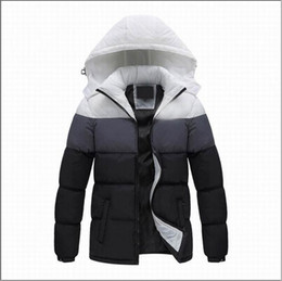 Wholesale hooded denim parka for sale – winter 2019 Men Winter Jackets Coats Warm Down Jacket Outdoor Hooded Mens Thick Faux Fur Inner Parkas Plus Size Famous Brand L XL AD