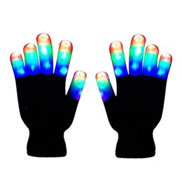 e25f02a4687 1 Pair LED Light Gloves Color Changing Luminous Flashing Halloween Stage  Performance Costume Christmas Party Event Supply