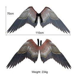 Fancy Dress Fabrics Australia - Mardi Gras Big Eagle Wings Costume Non Woven Fabrics Animal Wing Adult Halloween Carnival Fancy Dress Ball Party Supplies 36sz E1